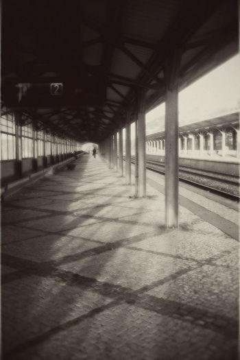 Architecture Built Structure Corridor Diminishing Perspective Distant Lisbon Train Station Train Station Platform