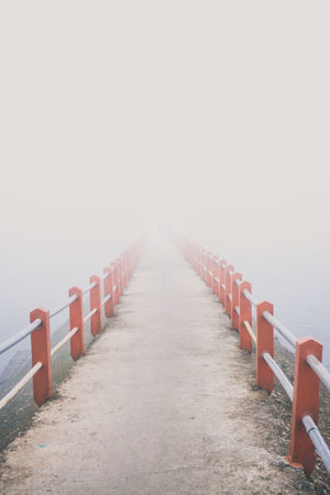 Fogy Bridge Fog Foggy Foggy Morning FogyDay FogyNature Foggy Morning Foggy Weather Foggy Landscape Fog_collection Bridge Bridges Brigdeovertroutwater Bridge View Bridge Photography Bridge - Man Made Structure Symetry Symetrical Leading Lines Leadinglines Red Water Symmetry In A Row