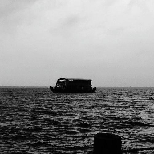 Vembanad Lake Vembanad Lake Kerala India Kumarakom Lake Kumarakom Tourist Attraction  Dusk Black And White Photography House Boat Lake View Tourism Tourist Destination South India