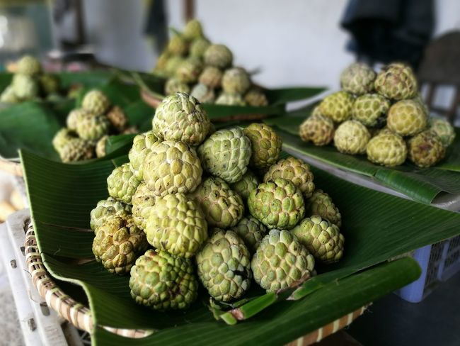 Our tropical fruit ... SRIKAYA. Fruit Market Food Freshness Green Color Healthy Eating Traditional Market Srikaya