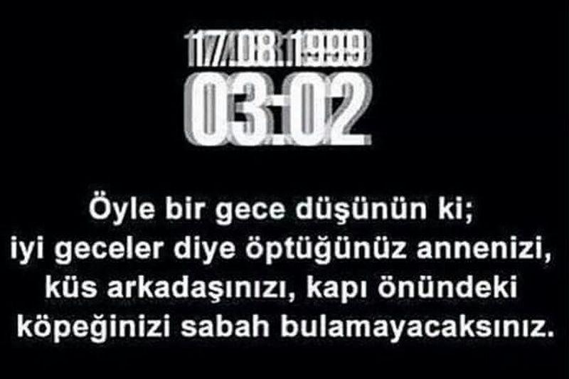 Karamürsel Ulaşlı Halıdere Degirmendere Golcuk Izmit Derince Korfez Kocaeli !! 17.08.1999-03:02