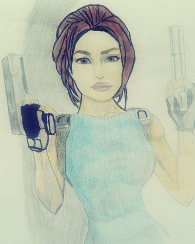 Drawing Drawings Draw Laracroft Lara Croft Tombraider