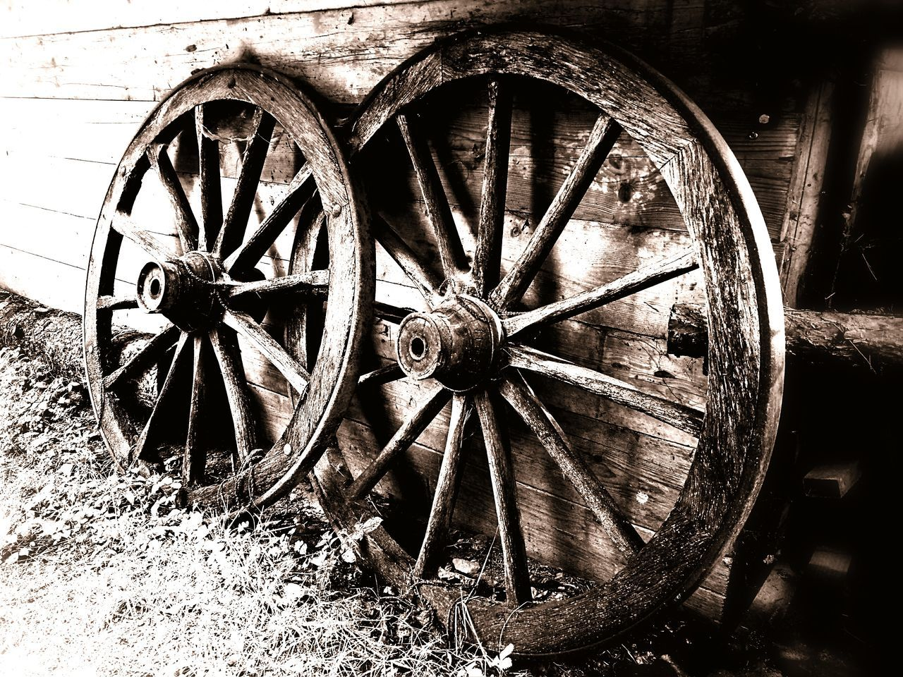 wagon wheel, wheel, old-fashioned, no people, day, outdoors, horse cart, close-up