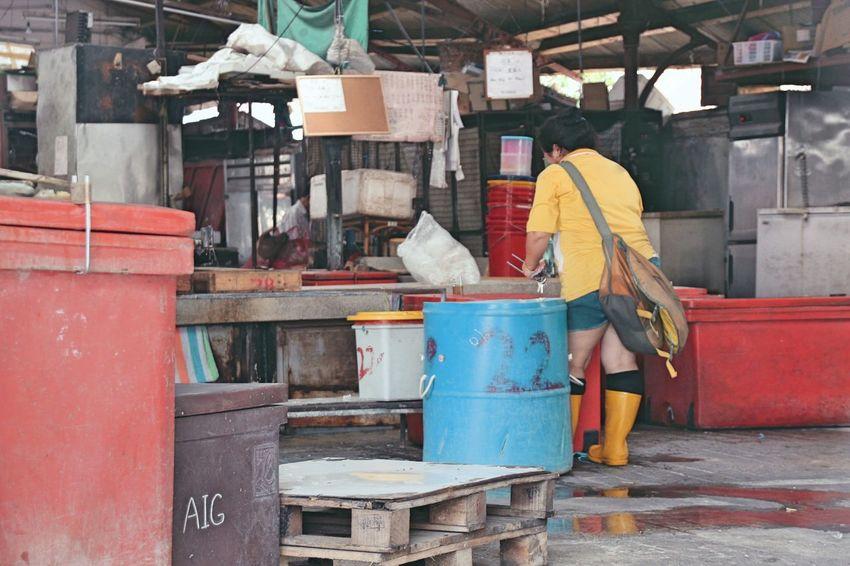 Day Machinery Malaysia Market Marketplace No People Outdoors Woman Working