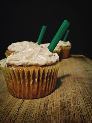 *finished* Pumpkin Spice Latte Cupcakes. Psl Cupcakes Food Porn Yummy