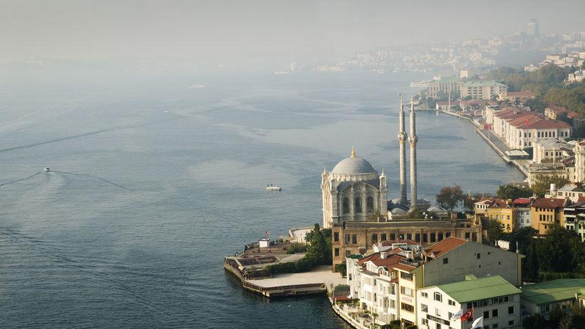 Bosphorus Bosphorus Bridge Foggy Istanbul Mosque Ortaköy Camii Sea Seascape Travel Travel Photography Turkey The Traveler - 2018 EyeEm Awards