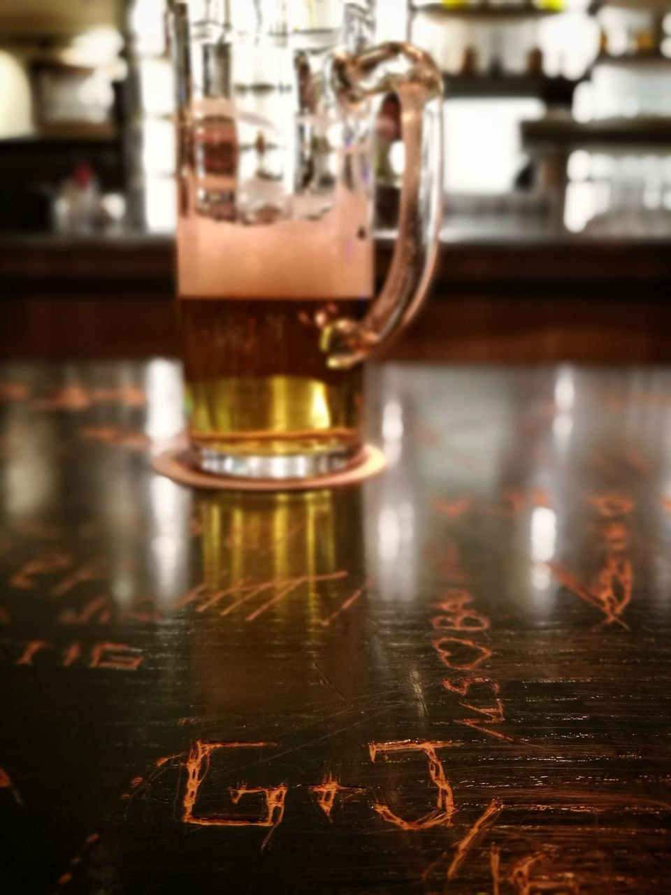 close-up, no people, alcohol, beer glass, indoors, drink, food and drink, table, refreshment, beer - alcohol, focus on foreground, bar - drink establishment, drinking glass, freshness, day