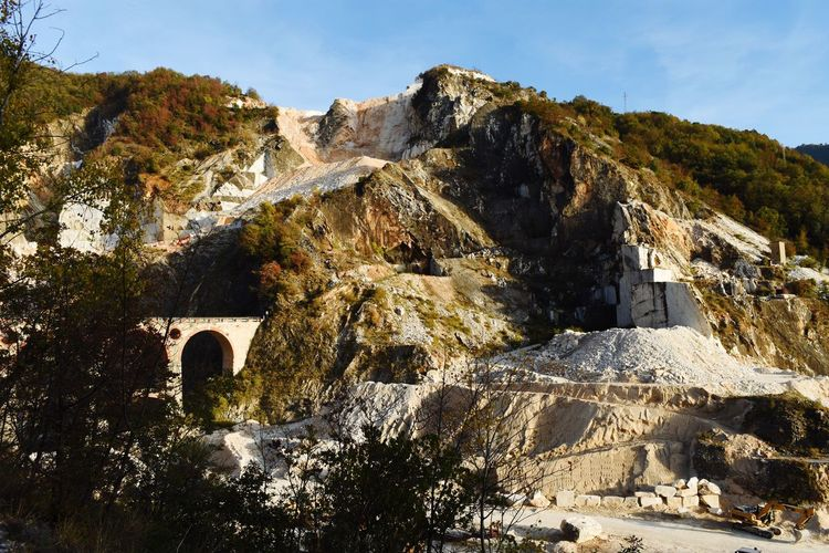 Day Mountain History Outdoors No People Nature Sky Scenics Beauty In Nature Ancient Civilization Architecture Work Working Place Marble Mountains Carrara