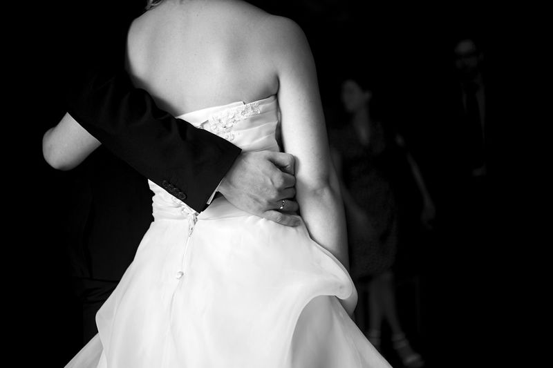 Adult Bride Day Evening Gown Fashion Human Back Indoors  People Real People Rear View Standing Two People Wedding Dress Well-dressed Women