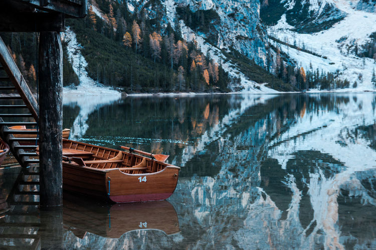 Boat 14 Beauty In Nature Day Forest Lake Mountain Nature No People Outdoors Reflection Rock - Object Scenics Tranquility Travel Destinations Tree Water Be. Ready. Perspectives On Nature EyeEmNewHere Be. Ready. Fresh On Market 2017