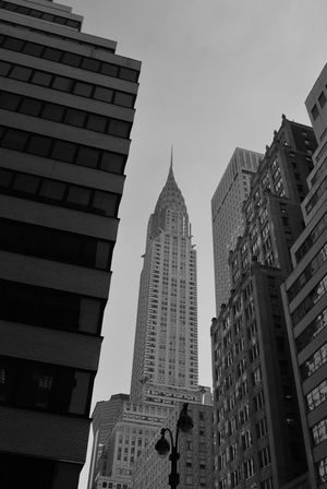 New York's Chrysler building Chrysler Building Architecture Building Building Exterior Buildings Built Structure City Landmark Low Angle View No People Office Building Exterior Sky Tower