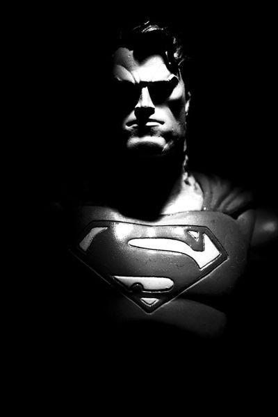 Man Of Steel Superman Man Of Steel Black & White Portrait RePicture Masculinity