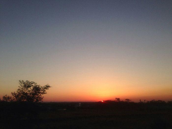 昨日の夕陽 IPhoneography Sunset...