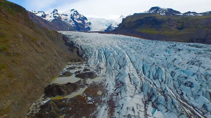 Iceland Beauty In Nature Blue Ice Blue Ice Glacier Cold Temperature Day Dronephotography Landscape Mountain Mountain Range Nature No People Outdoors Scenics Sky Snow Tranquil Scene Tranquility Water Winter