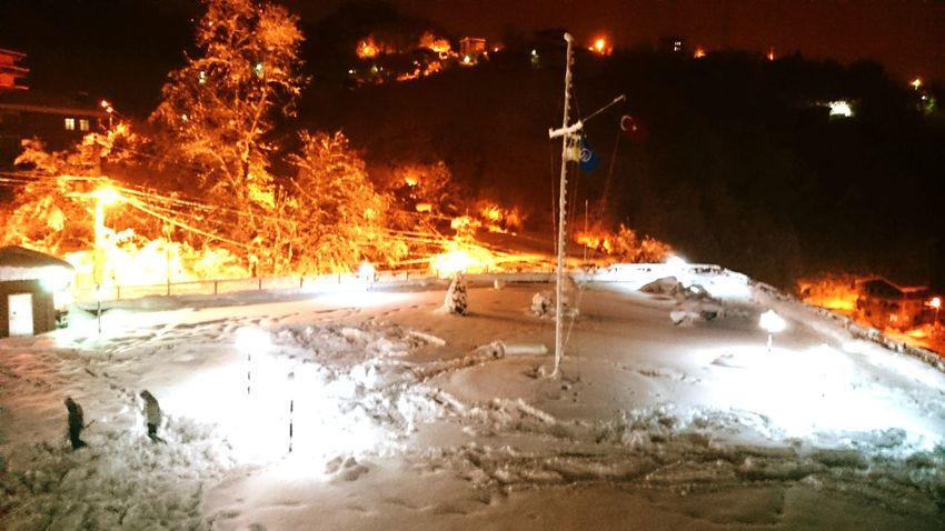 Ktu Duim Deck Turkey Turkish Snow Winter Flag Dark Night My Best Photo 2016 Trabzon Photography Sailor School Academy