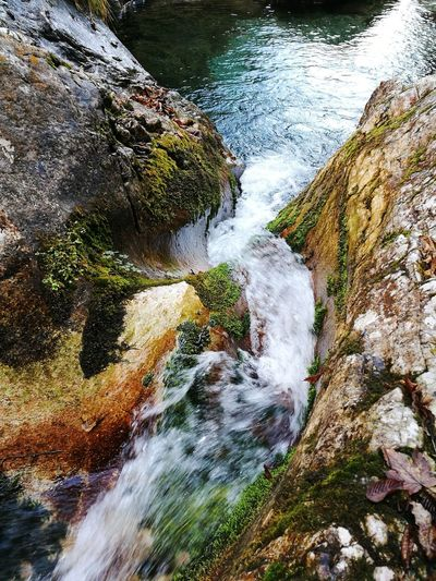 Water Nature Beauty In Nature Outdoors Motion No People Day Mountain Creek Wave Italy