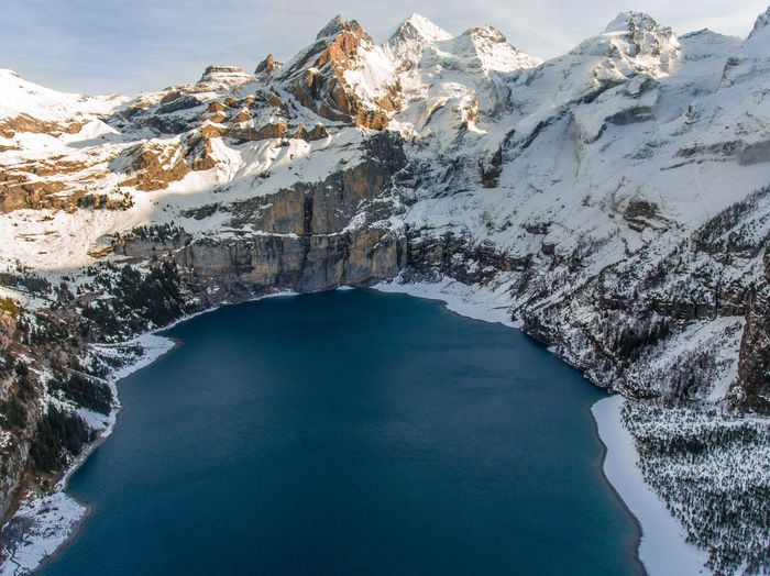 Mountainlake Aerial Photography Aerial Shot Aerial View Beauty In Nature Cold Temperature Drone  Frozen Glacier High Angle View Ice Lake Mountain Nature No People Outdoors Scenics Snow Water Winter