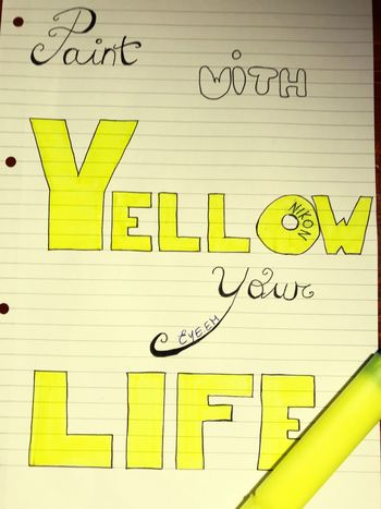 Yellow💛 Paint The Town Yellow