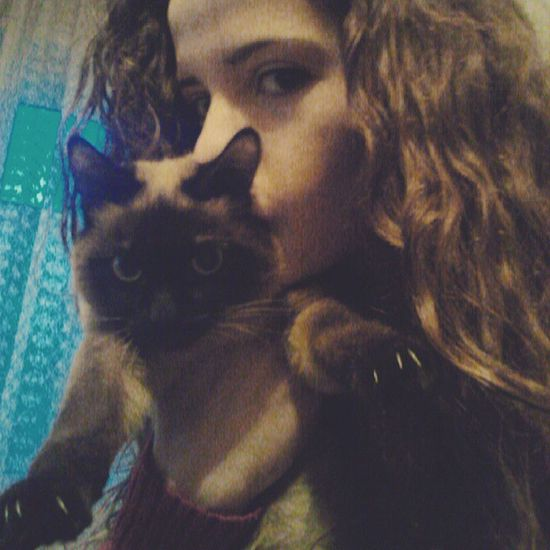 Бончоооо Kittycat Selfiewithcat Kitty Curly girl