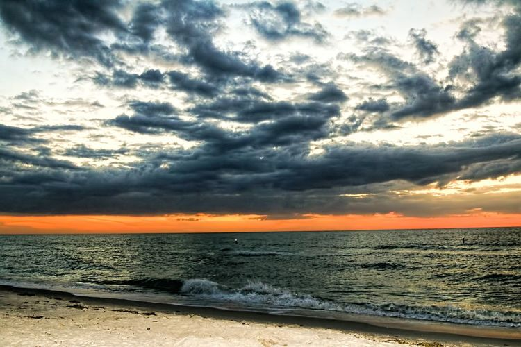 Sea Beach Sunset Tranquility Tranquil Scene Nature Beauty In Nature