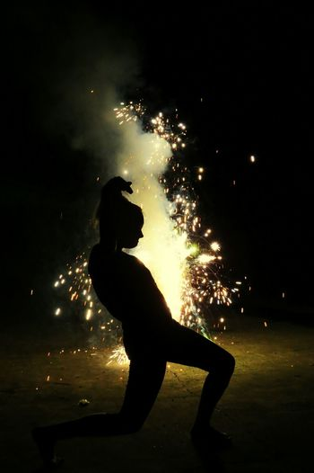 In Front Of Fireworks Silhouette Unusual My Style
