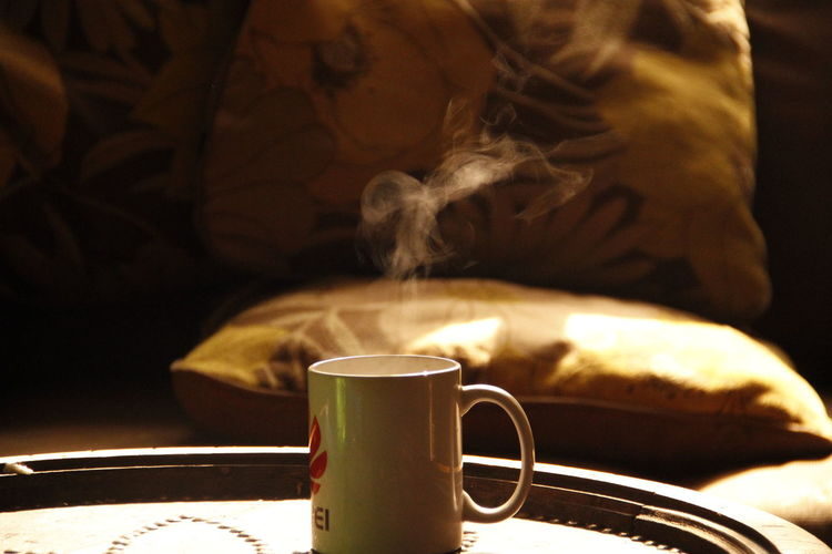 Bed Close-up Coffee - Drink Coffee Cup Cup Day Drink Food And Drink Freshness Heat - Temperature Indoors  No People Refreshment Smoke - Physical Structure Smoke Makes Shape Smoke Photography Smoke Unicorn Steam Unicorn C: