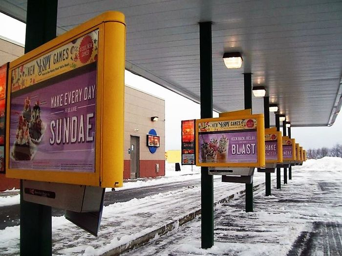 Sometimes you just have to step back in time. Advertising Cold Temperature Fast Food Food Order To Go Sonic Winter