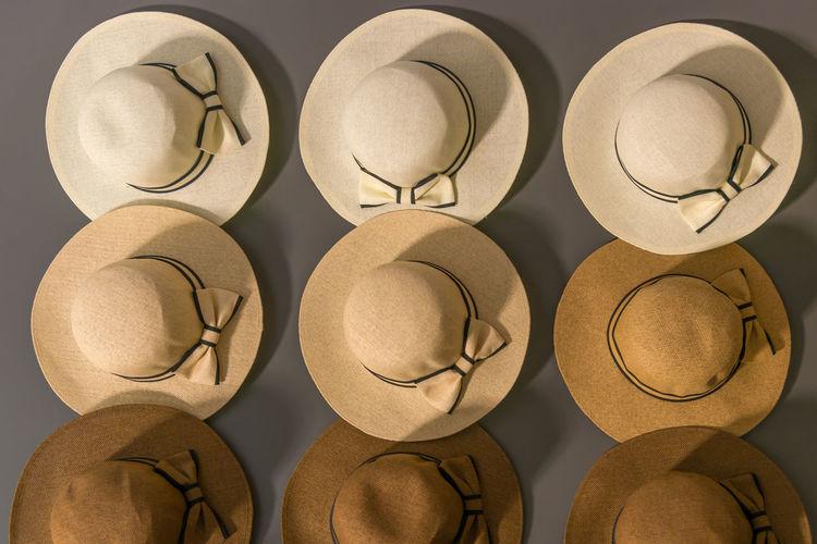 Full frame shot of hat on wall