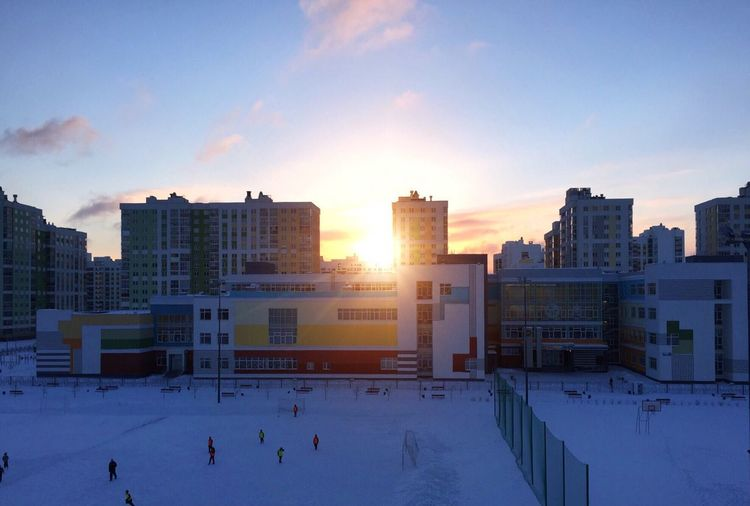 восход солнце утро зима Академический Sunrise Sun Morning Vscocam Winter