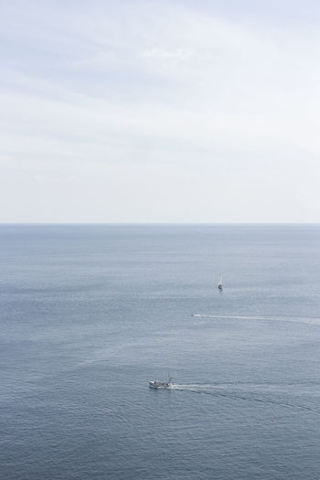 Britain Minimalist Beauty In Nature Big Blue Big Sea Blue Water Boat Boats Boats And Water Cornwall Day England Minimal Minimalism Nature Nautical Vessel No People Ocean Outdoors Sailing Sailing Boat Scenics Sea Sea And Sky Water