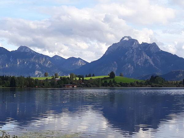 EyeEm Selects Mountain Landscape Lake Reflection Mountain Range Tree Mountain Peak Outdoors No People Scenics Travel Destinations Nature Water Sky Beauty In Nature Day Allgäu Alps Allgäuer Landschaft