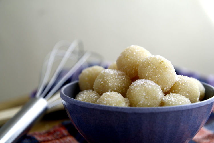 Close-up of sweet food in bowl