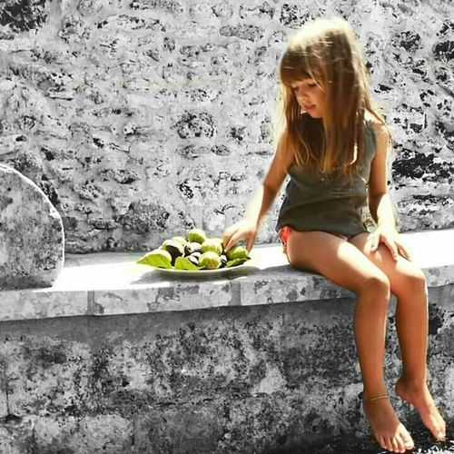 Girl Power Girl Fruit Black And White Children Photography Child Children Beautiful Summer