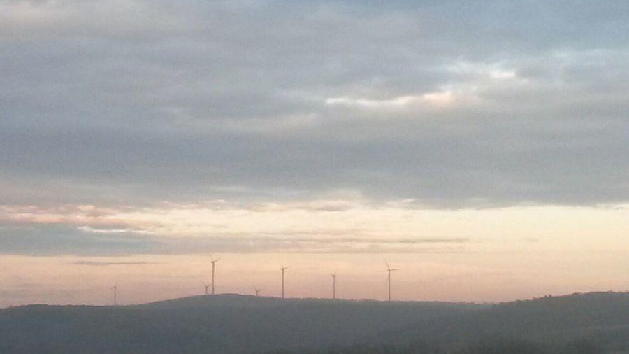 Krajobraz Widok Wiatrak Himel Niebo Slonce Sonne Gebe