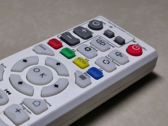 Close-up of remote control