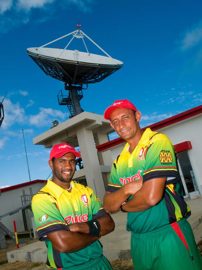 Vanuatu Cricket Team Port Vila Efate Vanuatu . Efate is an island in the Pacific Ocean which is part of the Shefa Province in The Republic of Vanuatu. It is also known as Île Vate. It is the most populous (approx. 66,000)[1] island in Vanuatu. Efate's land area of 899.5 square kilometres (347.3 sq mi) makes it Vanuatu's third largest island. Most inhabitants of Efate live in Port Vila, the national capital. Its highest mountain is Mount McDonald with a height of 647 metres (2,123 ft). During World War II, Efate served an important role as a United States military base. Broadcasting Communication Cricket Team Efate Island Happiness Manual Worker Melanesian Men Mid Adult Mid Adult Men Only Men Outdoors Pacific Pacific Ocean Sky Smiling Teamwork Tourism Tourist Attraction  Travel Travelling Two People Vanuatu Vanuatu Wedding Vivid International