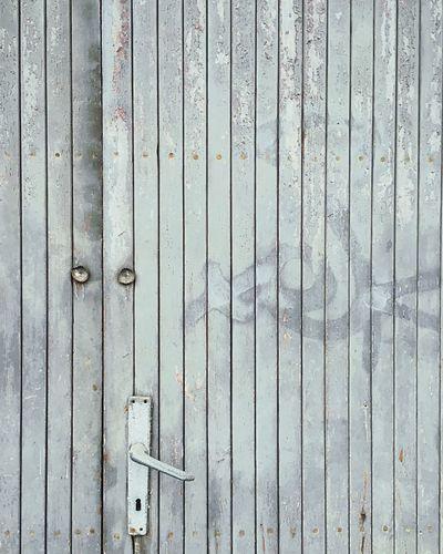 Full frame shot of closed wooden door