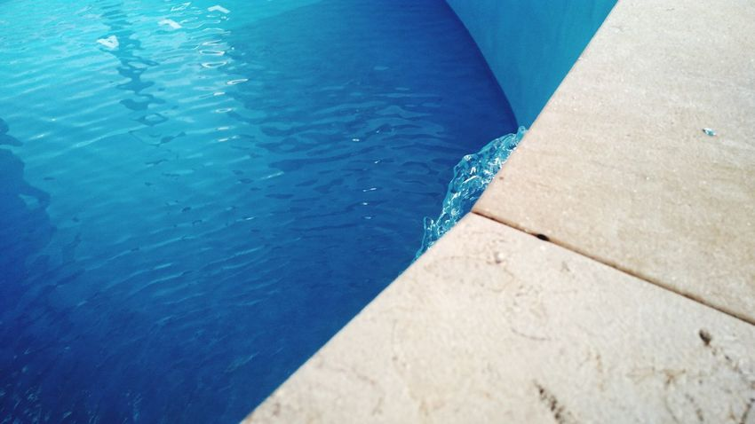 Swimming Pool Water High Angle View Day Blue No People Outdoors Nature Refraction