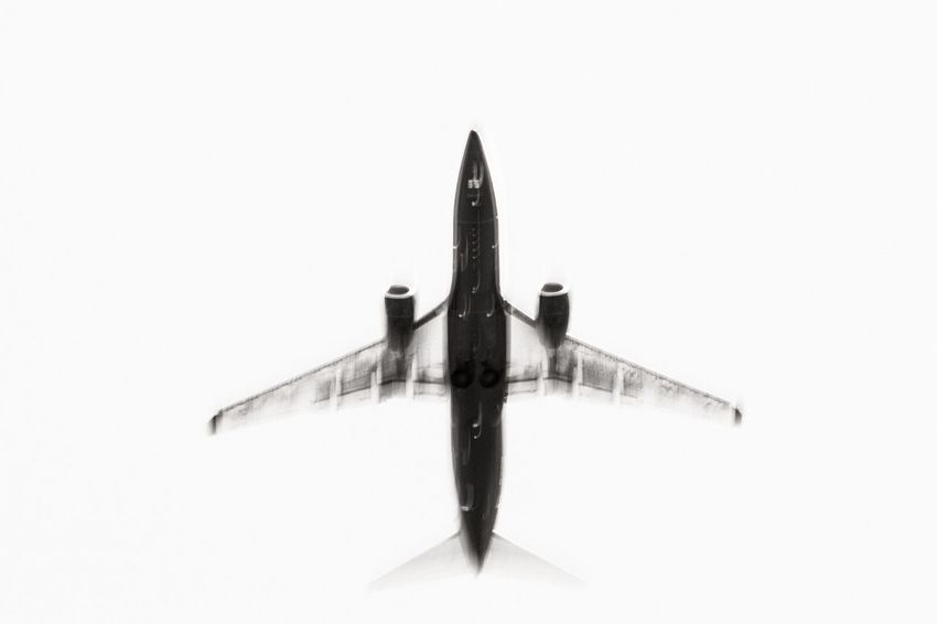 Abstract Airplane Aircraft Monochrome Fine Art Photography Motion Plane 737 Boeing Flight