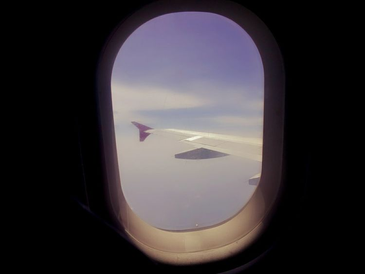 Inside Srilankan Airlines Plane. Taking Photos That's Me Check This Out Srilankanairlines Plane Window View Blue Sky White Clouds Photography View Myclick💚 MyClick