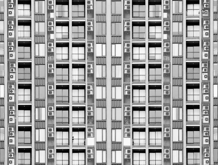 Digital composite image of apartment building