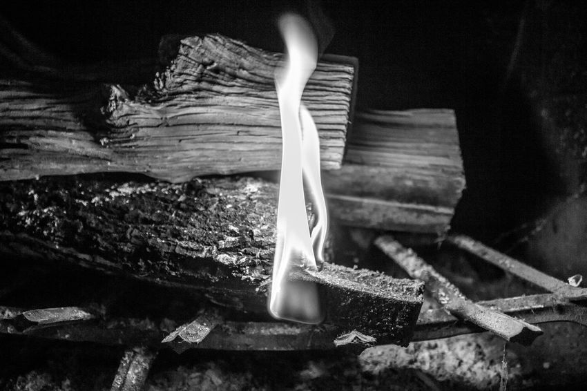 Blackandwhite Close-up Day Fire Indoors  No People Photography Serrated Wood - Material