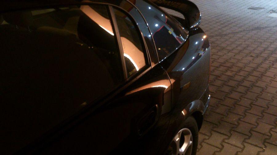 Car Transportation Night Astra Opel Astra Black Shell Petrol Station