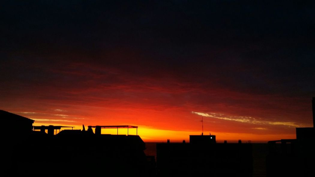 Sky Sunset Beauty In Nature Night Outdoors Scenics Nature No People City Silhouette No Filter..purist...Spain..Andaloucia....from My Window Beauty In Nature