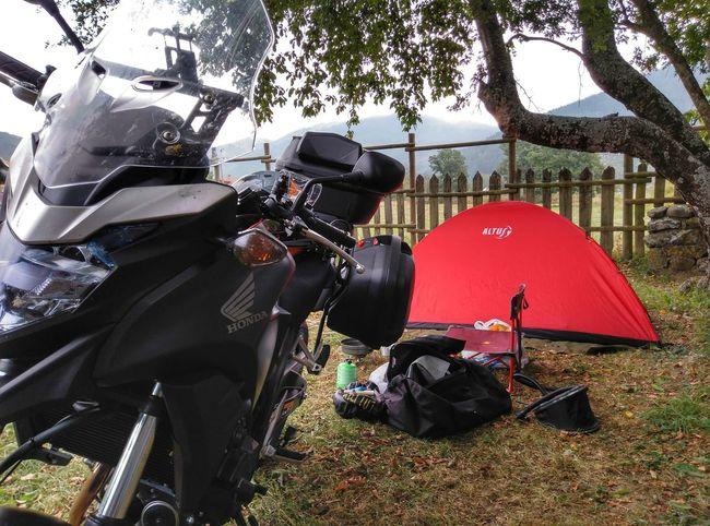 Cb500x Mototravel Tent Sitting Adventure Sky