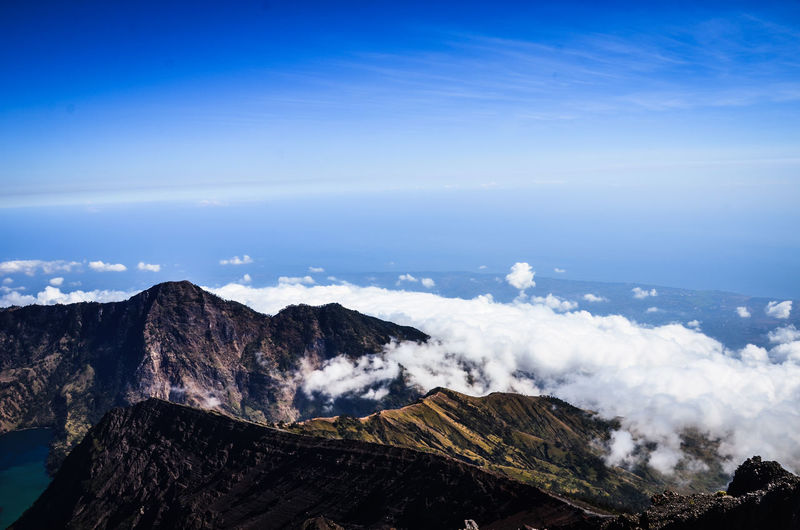 Rinjani mountin height ,lombok indonesia