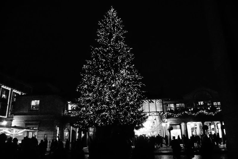 EyeEm Vision Christmastree London Beautyuk Visiting Bnw_life Bw_society Bnw Loveit Citybynight Christmas Lights Christmas Decoration Lovethiscity Visitlondon My Point Of View Mylondon #sony Photography My Point Of View Celebration Illuminated Christmas Arts Culture And Entertainment Christmas Tree Shades Of Winter
