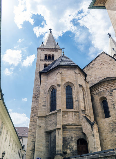 Views of the main monuments and streets of Prague, in the Czech Republic Amazing Architecture Architecture Building Exterior Built Structure Capital Cities  Cloud - Sky Day European  Landscape Light Low Angle View No People Outdoors Place Of Worship Religion Sky Spirituality Tourism Destination Travel Destinations