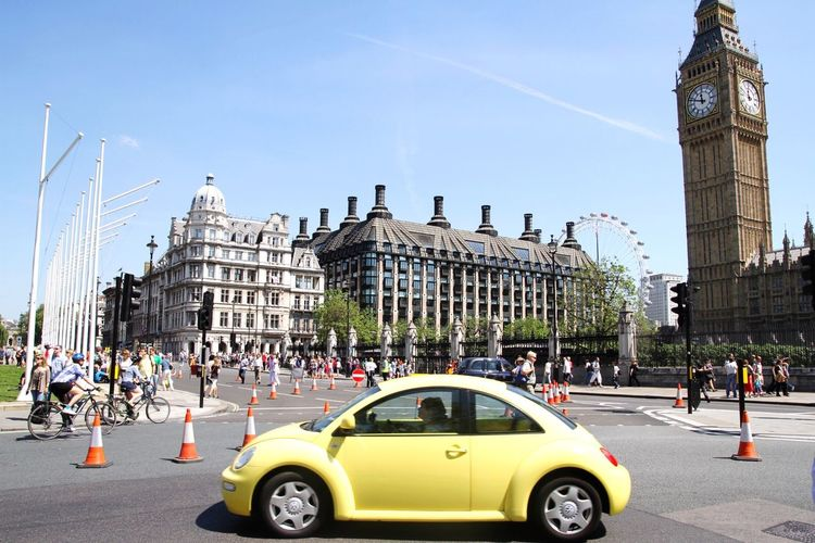 London Lifestyle Architecture City Clear Sky City Life People Day Big Ben London Eye Beetle