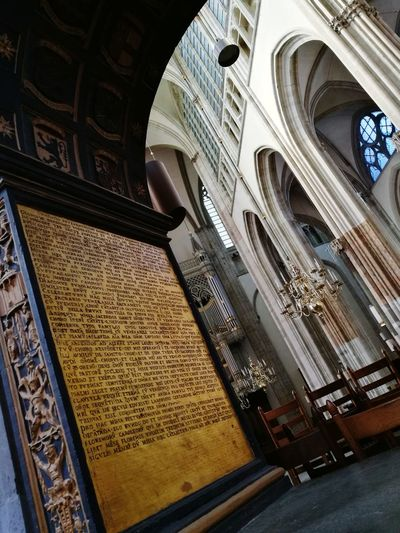 Architecture Low Angle View Built Structure Religion History Indoors  Place Of Worship Travel Destinations No People Utrecht , Netherlands Urban Exploration Urban Lifestyle Domtoren Church Architecture Catholic Church Details Domkerk Interior Design Gothic Architecture Gothic Church Historical Building Monument Canal Walks